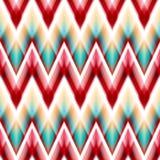 Vector seamless ikat ethnic pattern Stock Photos