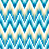 Vector seamless ikat ethnic pattern Royalty Free Stock Photography