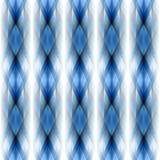 Vector seamless ikat ethnic pattern Royalty Free Stock Images