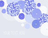Vector seamless illustration with flowers Stock Photos