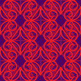 Vector seamless illustration. With red elements on the dark blue backgraund Royalty Free Stock Images