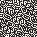 Vector Seamless Interlacing Lines Pattern. Repeating Geometric Background With Hexagonal Lattice. Stock Image