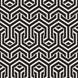 Vector Seamless Interlacing Lines Pattern. Repeating Geometric Background With Hexagonal Lattice. Royalty Free Stock Photography