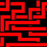 Vector seamless interwoven red ornament on a black. Background Royalty Free Stock Photography