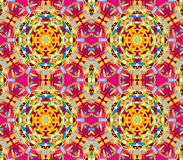 Vector seamless kaleidoscope pattern. Seamless vector oriental kaleidoscope pattern Royalty Free Stock Photo