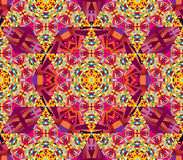 Vector seamless kaleidoscope pattern. Seamless vector oriental kaleidoscope pattern Stock Photo