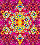 Vector seamless kaleidoscope pattern. Seamless vector oriental kaleidoscope pattern Stock Photos