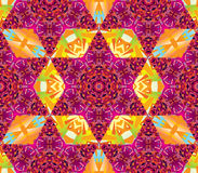 Vector seamless kaleidoscope pattern. Seamless vector oriental kaleidoscope pattern Royalty Free Stock Image
