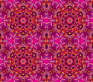 Vector seamless kaleidoscope pattern. Seamless vector oriental kaleidoscope pattern Stock Image
