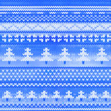 Vector seamless knitted pattern with pine Stock Image