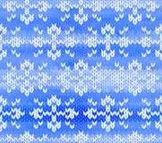 Vector seamless knitted pattern with snowflakes Stock Photography