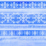 Vector seamless knitted pattern with snowflakes Stock Photo