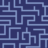 Vector seamless labyrinth pattern Stock Photography