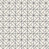 Vector seamless lattice pattern. Modern stylish texture with monochrome trellis. Repeating geometric grid. Simple design stock illustration