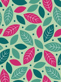 Vector Seamless leaf background Stock Photos