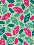 Vector Seamless leaf background stock photos
