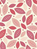 Vector Seamless leaf background Royalty Free Stock Photos