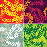 Vector seamless leaf pattern Royalty Free Stock Photos