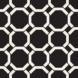 Vector seamless lines pattern. Abstract background with interweaving squares. Geometric monochrome lattice texture. Decorative intricate grid vector illustration