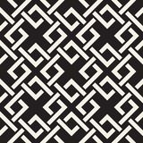 Vector seamless lines pattern. Abstract background with interweaving squares. Geometric monochrome lattice texture. Decorative gri. Vector seamless lines pattern vector illustration
