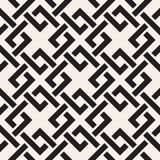 Vector seamless lines pattern. Abstract background with interweaving squares. Geometric monochrome lattice texture. Decorative gri. Vector seamless lines pattern stock illustration