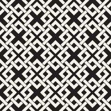 Vector seamless lines pattern. Abstract background with interweaving squares. Geometric monochrome lattice texture. Decorative gri. Vector seamless lines pattern royalty free illustration