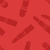 Vector seamless lipstick pattern. retro background Stock Images