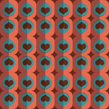 Vector seamless love heart pattern Stock Image