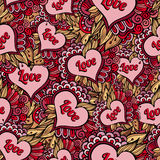 Vector seamless love pattern Royalty Free Stock Image