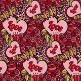 Vector seamless love pattern Stock Image