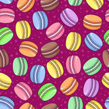 Vector seamless macaroon pattern on bright background. Stock Photography