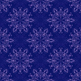 Vector Seamless Mandala Pattern over dark blue Royalty Free Stock Photography