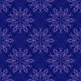 Vector Seamless Mandala Pattern over dark blue Royalty Free Stock Photography
