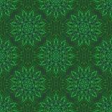 Vector Seamless Mandala Pattern over green Stock Photos