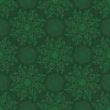 Vector Seamless Mandala Pattern over green Stock Photo