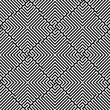 Vector Seamless Maze Pattern. Vector illustration of a maze pattern in black and white Royalty Free Stock Photos