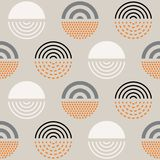 Abstract mid century pattern royalty free illustration