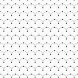 Vector seamless minimalistic pattern of curved lines with dots in nodes. Stock Images