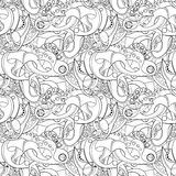 Vector Seamless Monochrome Abstract Pattern Royalty Free Stock Photo