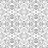 Vector Seamless Monochrome Abstract Pattern Royalty Free Stock Photography