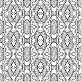 Vector Seamless Monochrome Circles Pattern Royalty Free Stock Photography