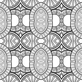 Vector Seamless Monochrome Circles Pattern Royalty Free Stock Image