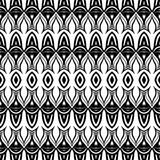 Vector Seamless Monochrome Damask Pattern Royalty Free Stock Photography