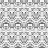 Vector Seamless Monochrome Damask Pattern Stock Photos
