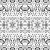 Vector Seamless Monochrome Damask Pattern Royalty Free Stock Images