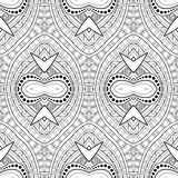 Vector Seamless Monochrome Damask Pattern Royalty Free Stock Image