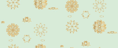 Vector Seamless Monochrome Floral Pattern. Texture, Decorative Flowers Royalty Free Stock Images