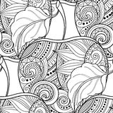 Vector Seamless Monochrome Fruit Pattern Royalty Free Stock Images