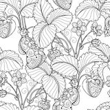 Vector Seamless Monochrome Fruit Pattern Stock Photo
