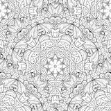 Vector Seamless Monochrome Ornate Pattern Royalty Free Stock Image